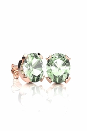 6th Borough Boutique Green Amethyst Studs - Front cropped