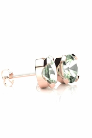 6th Borough Boutique Green Amethyst Studs - Front full body