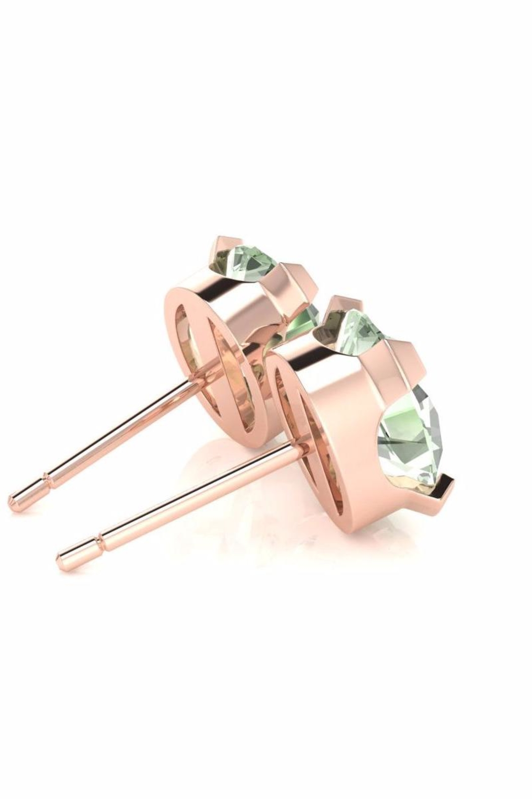 6th Borough Boutique Green Amethyst Studs - Side Cropped Image