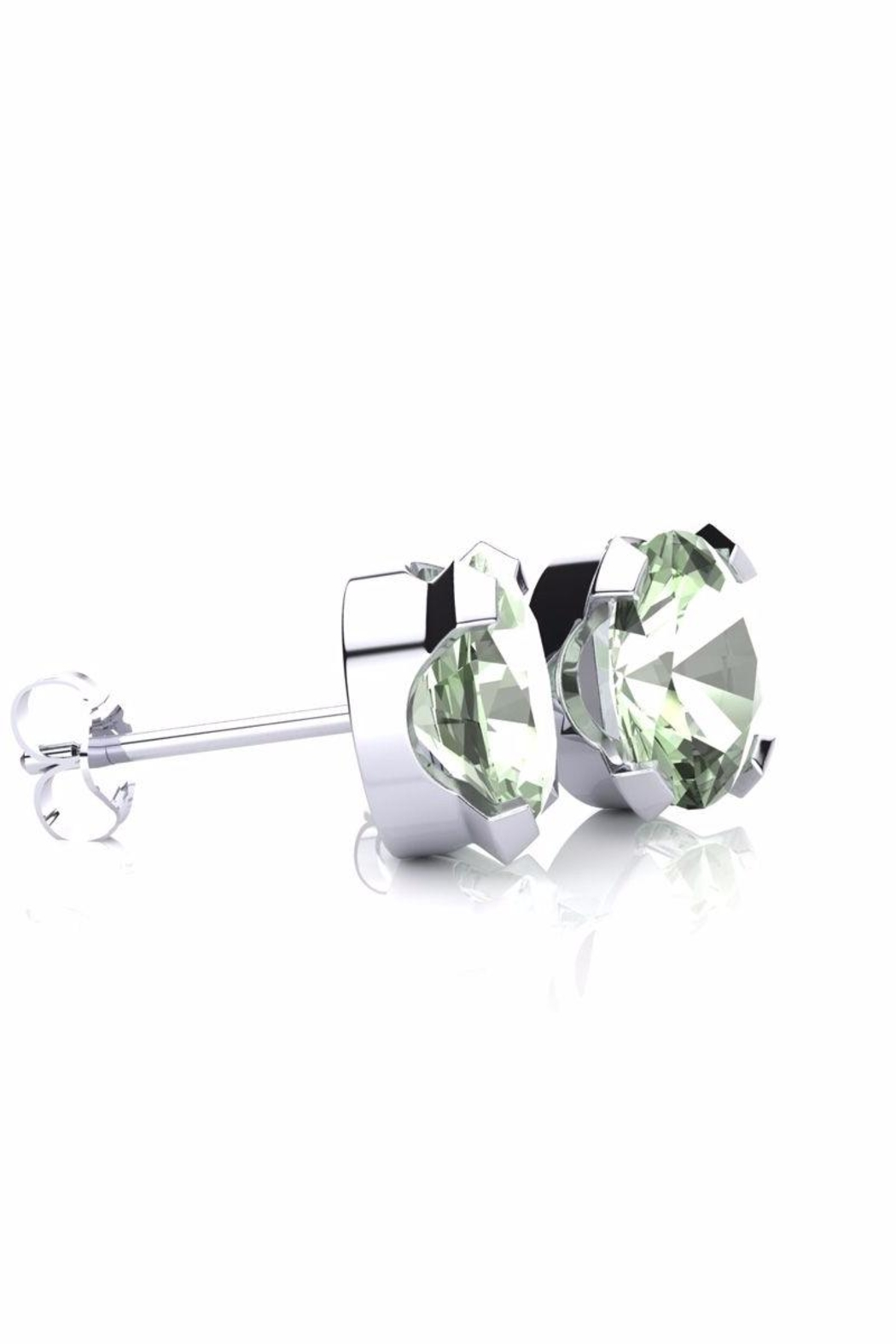 6th Borough Boutique Green Amethyst Studs - Front Full Image