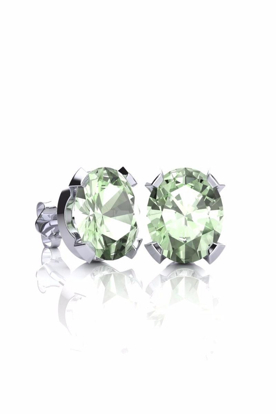 6th Borough Boutique Green Amethyst Studs - Main Image