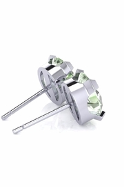 6th Borough Boutique Green Amethyst Studs - Side cropped