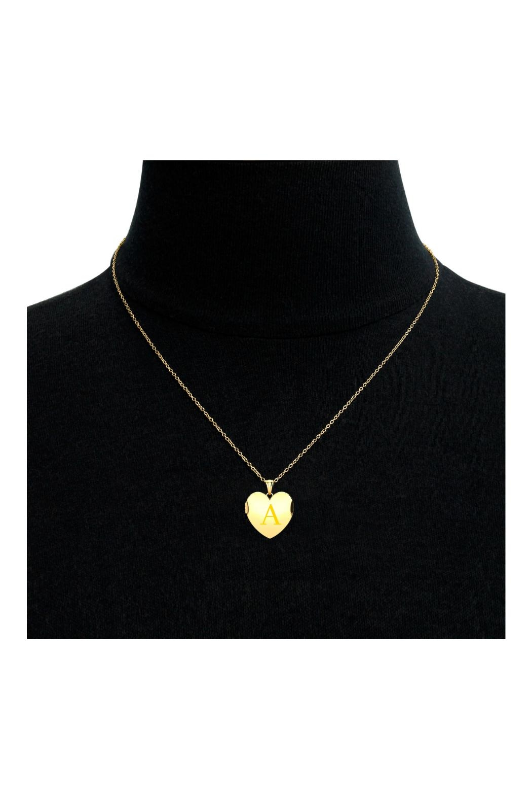 6th Borough Boutique Heart Initial Locket - Front Full Image