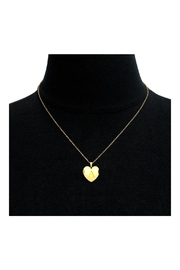 6th Borough Boutique Heart Initial Locket - Front full body