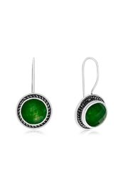 6th Borough Boutique Jade Fish-Hook Earrings - Product Mini Image