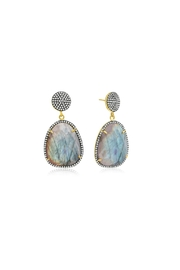 6th Borough Boutique Labradorite Gemma Earrings - Front full body