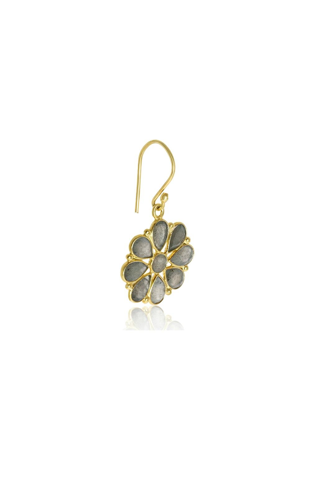 6th Borough Boutique Labradorite Summer Earrings - Side Cropped Image