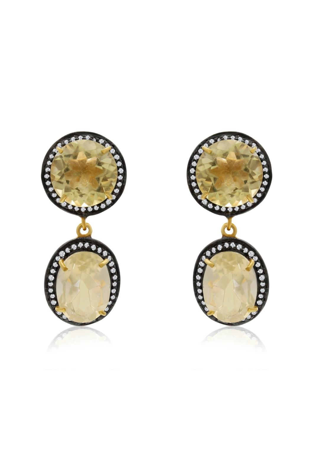 6th Borough Boutique Lemon Gia Earrings - Front Full Image