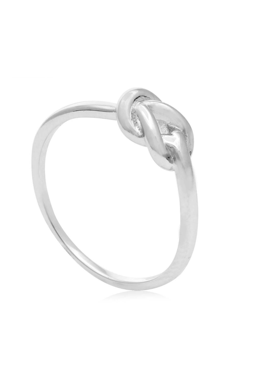 6th Borough Boutique Love Knot Ring - Side Cropped Image