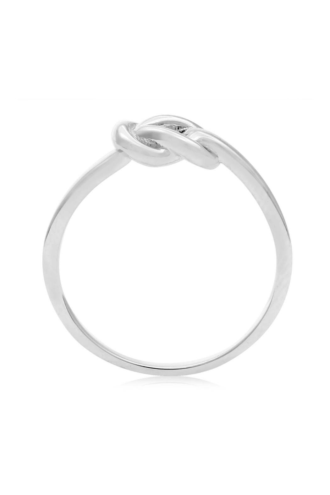 6th Borough Boutique Love Knot Ring - Front Full Image