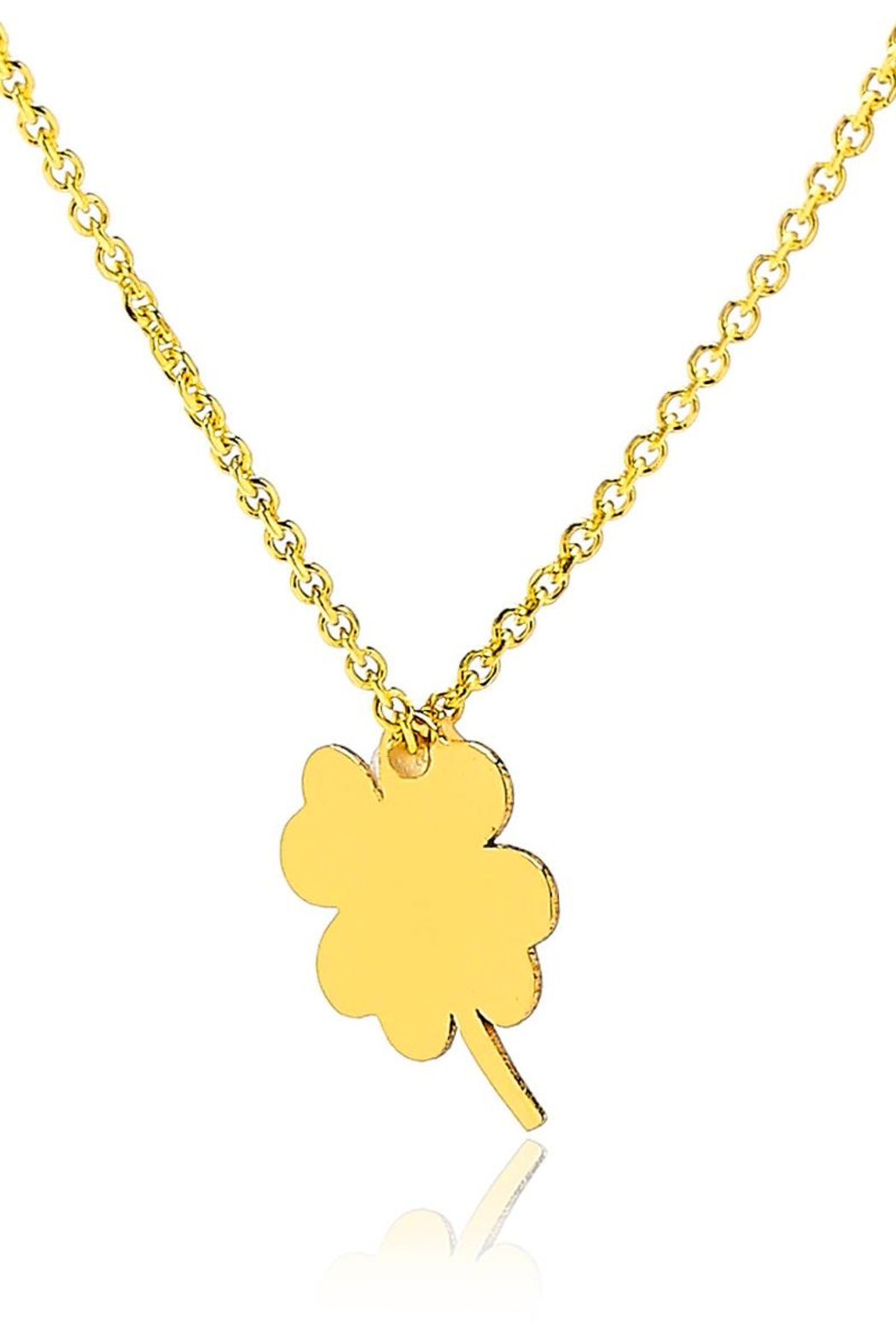 6th Borough Boutique Lucky Clover Necklace - Front Full Image