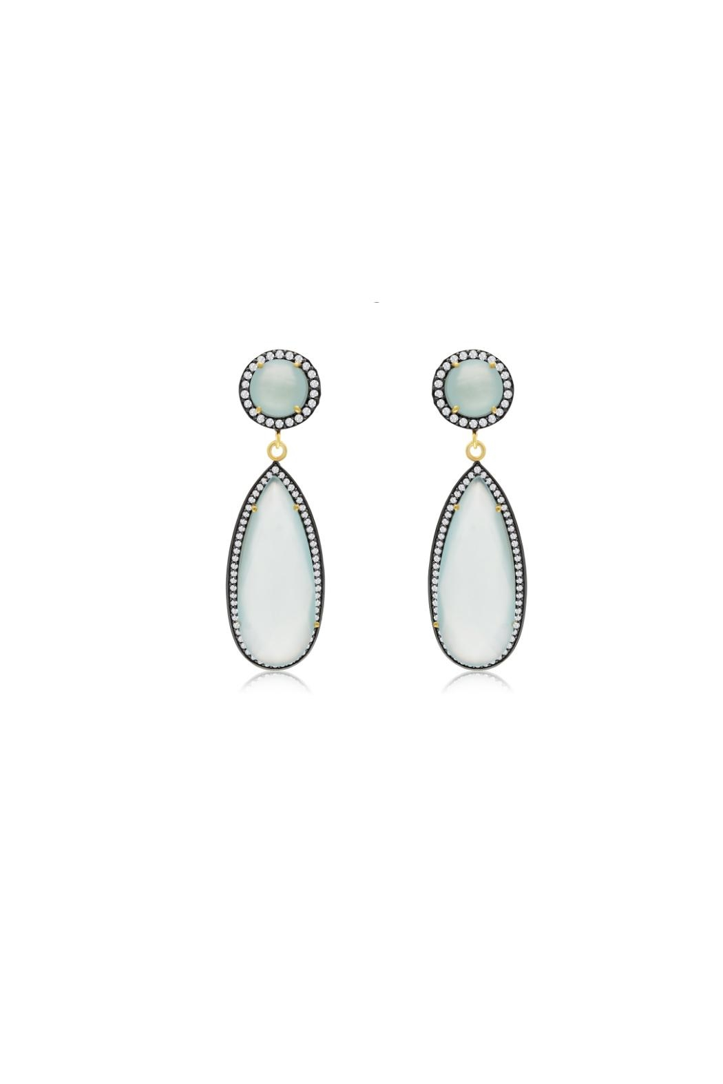 6th Borough Boutique Mint Tina Earrings - Main Image