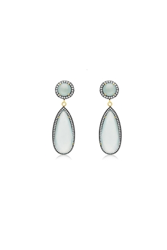 6th Borough Boutique Mint Tina Earrings - Product List Image
