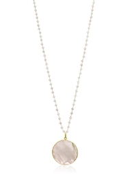 6th Borough Boutique Moonstone Disc Necklace - Front cropped