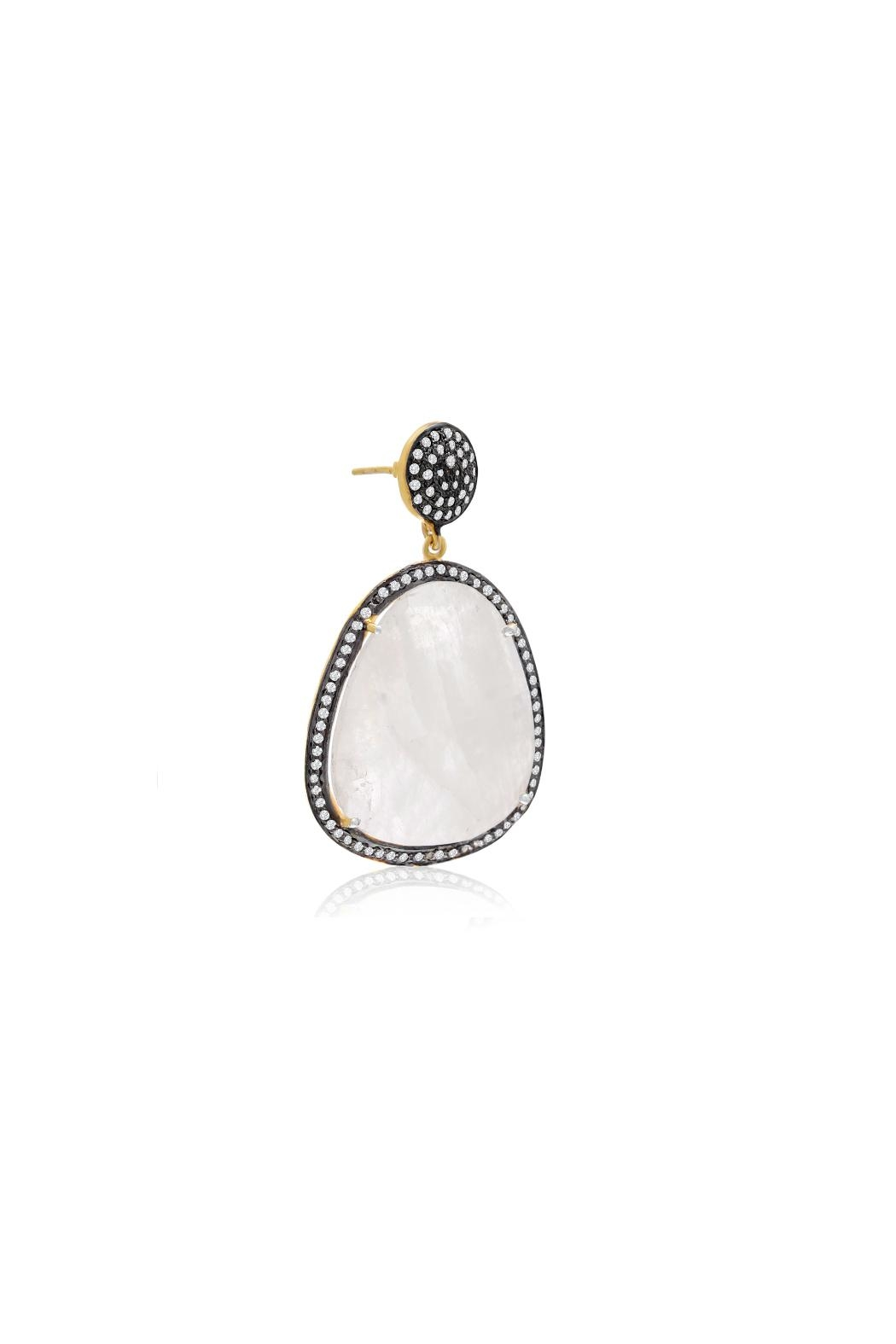 6th Borough Boutique Moonstone Gemma Earrings - Side Cropped Image