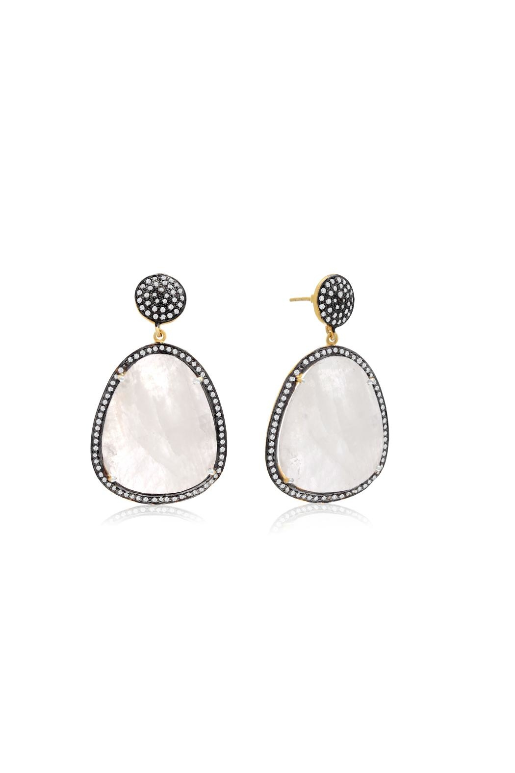 6th Borough Boutique Moonstone Gemma Earrings - Front Full Image