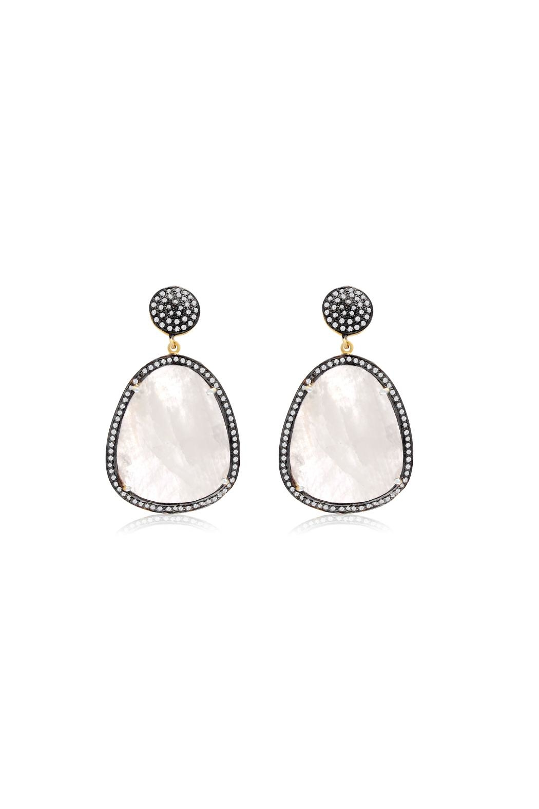 6th Borough Boutique Moonstone Gemma Earrings - Main Image