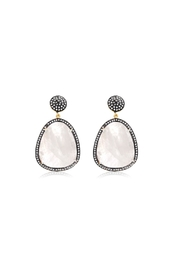 6th Borough Boutique Moonstone Gemma Earrings - Front cropped
