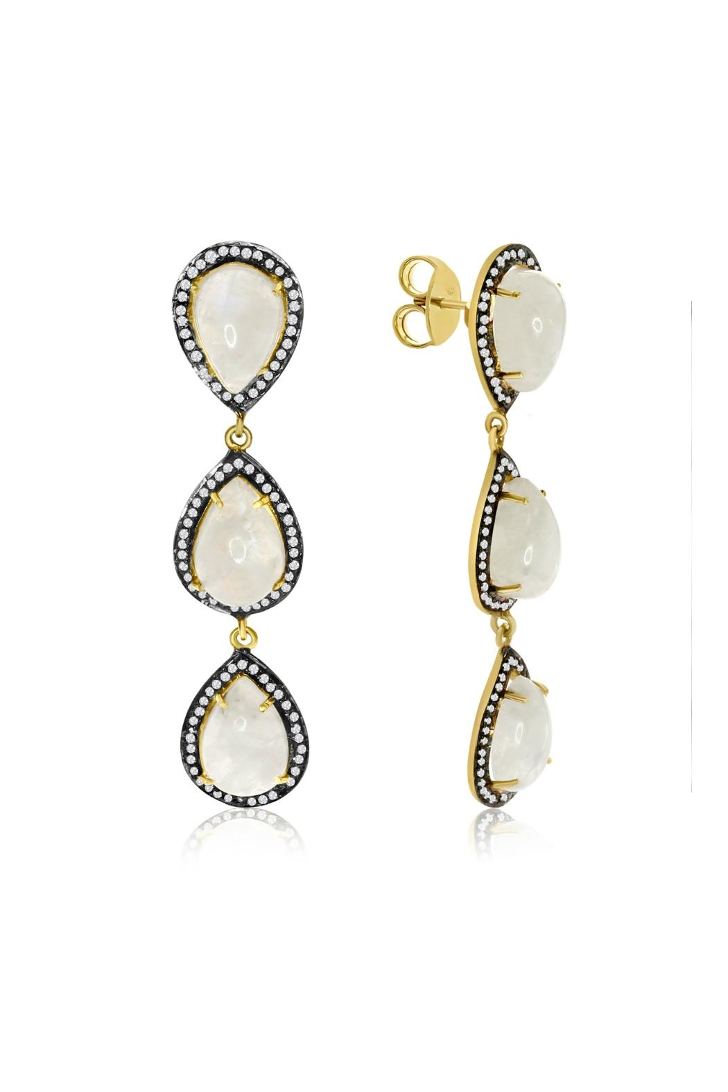 6th Borough Boutique Moonstone Kyle Earrings - Front Full Image