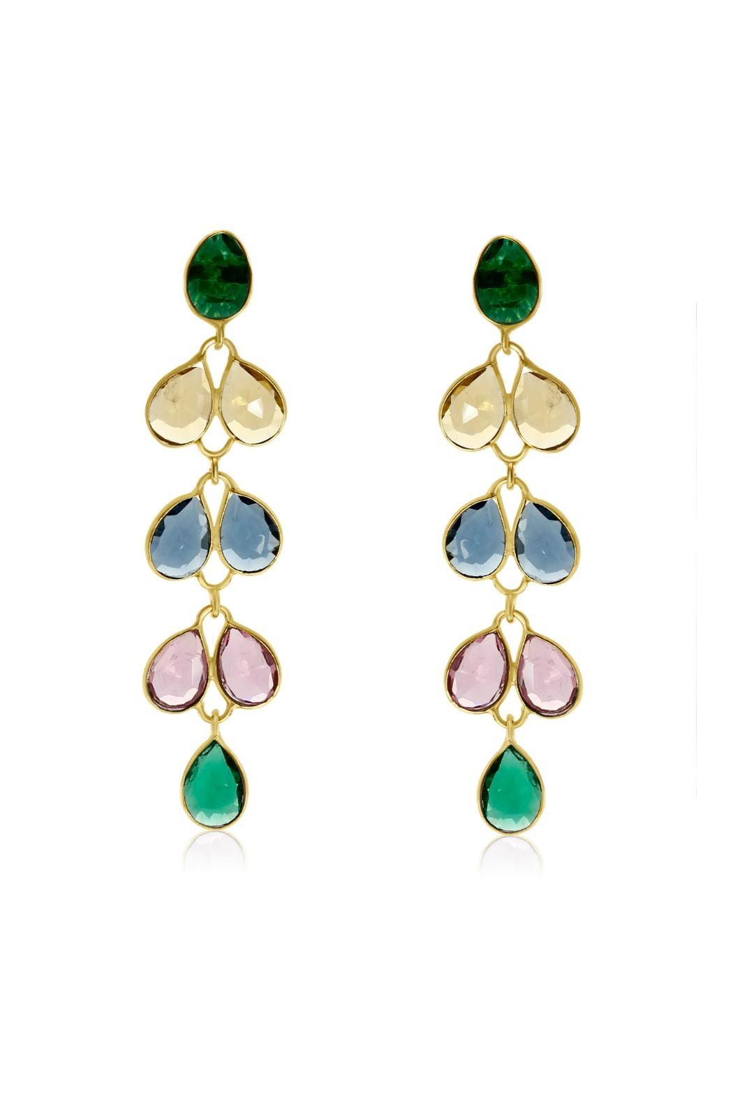 6th Borough Boutique Multi Maddie Earrings - Front Full Image