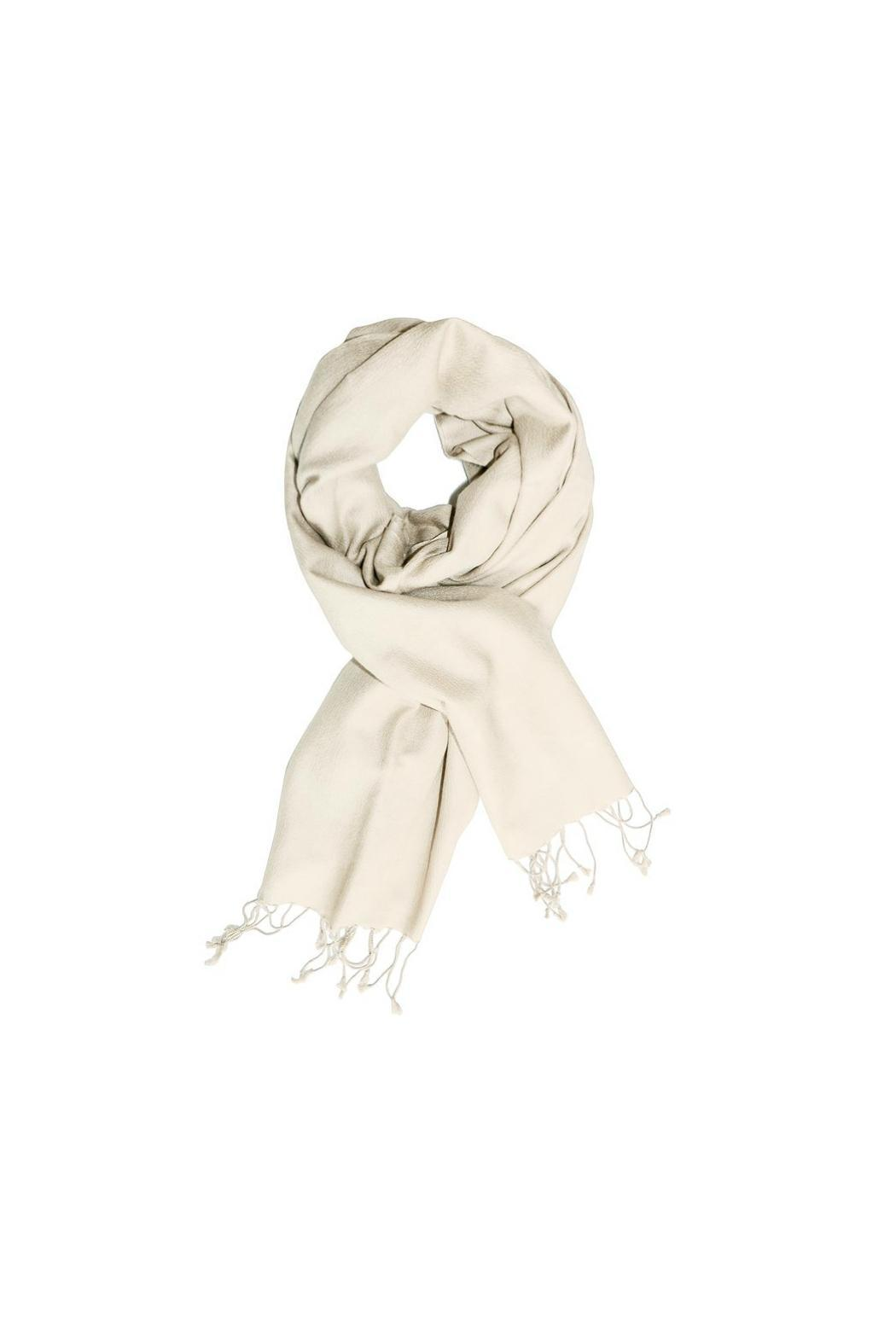 6th Borough Boutique Off White Pashmina Scarf - Main Image