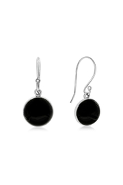6th Borough Boutique Onyx French Hook Earrings - Product Mini Image