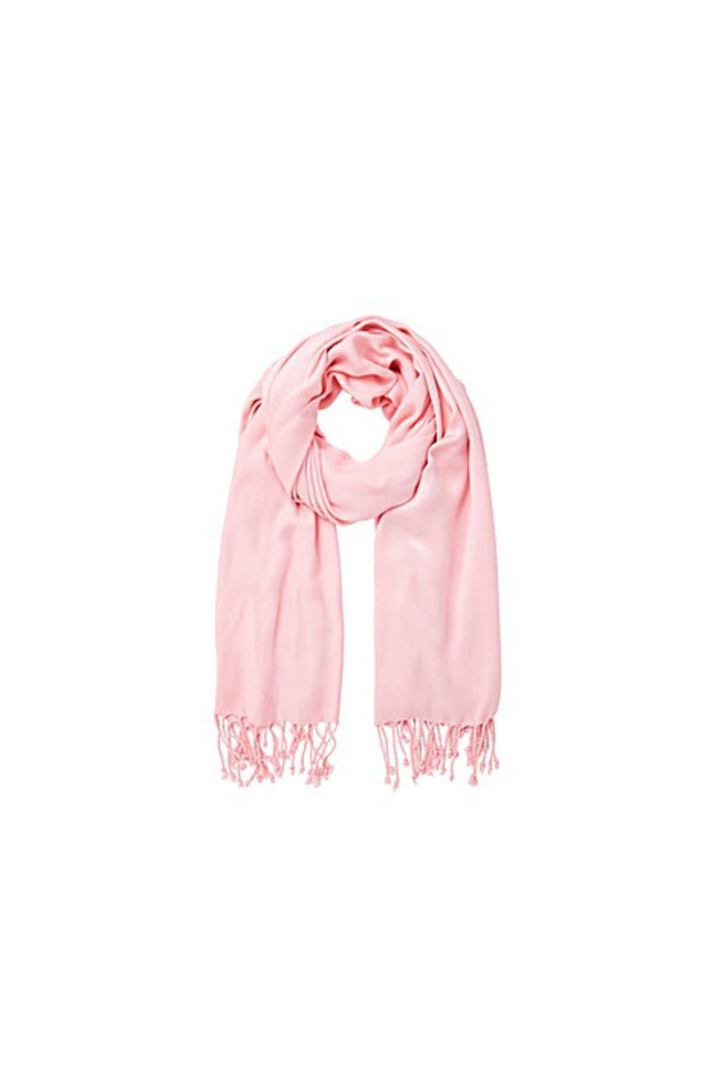 6th Borough Boutique Pink Pashmina Scarf - Front Cropped Image