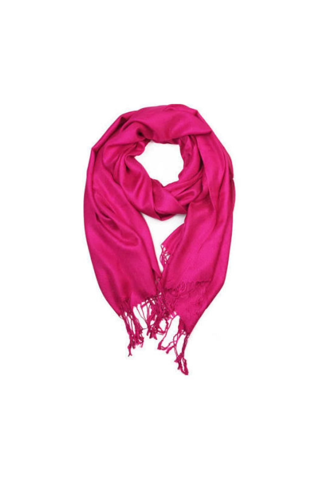 6th Borough Boutique Pink Pashmina Scarf - Main Image