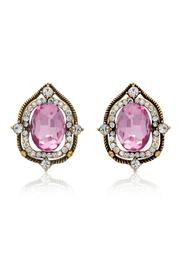 6th Borough Boutique Pink Sapphire Studs - Product Mini Image