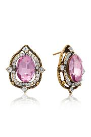 6th Borough Boutique Pink Sapphire Studs - Front full body