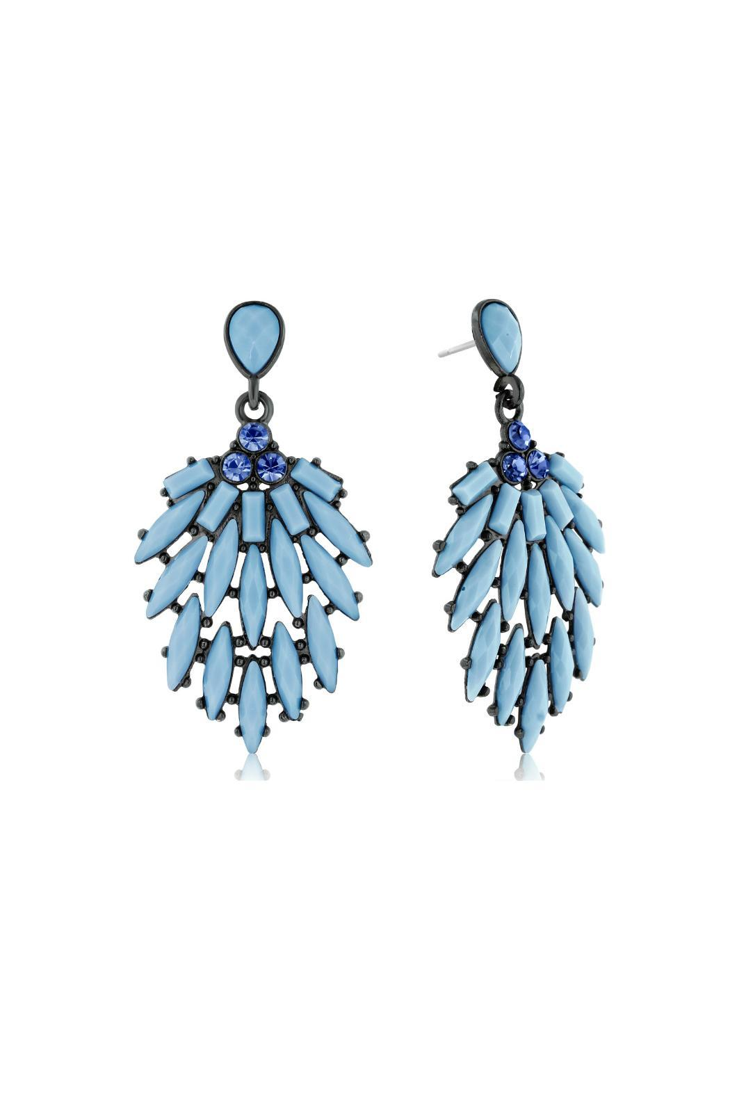 6th Borough Boutique Powder Blue Earrings - Front Full Image