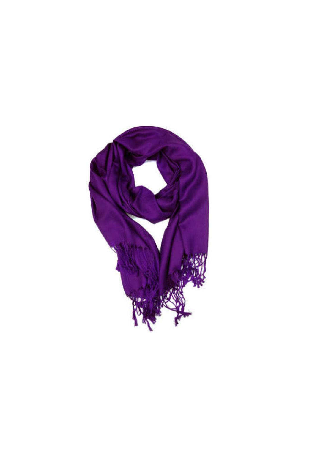 6th Borough Boutique Purple Pashmina Scarf - Front Cropped Image