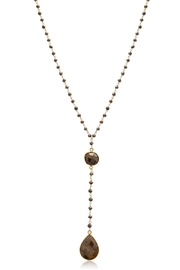 6th Borough Boutique Pyrite Lariat Necklace - Front full body
