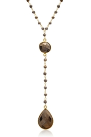 6th Borough Boutique Pyrite Lariat Necklace - Product Mini Image