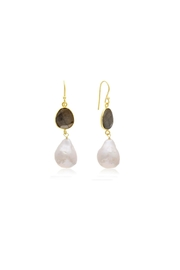 6th Borough Boutique Pyrite Michelle Earrings - Front cropped