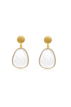 6th Borough Boutique Quartz Joelle Earrings - Alternate List Image