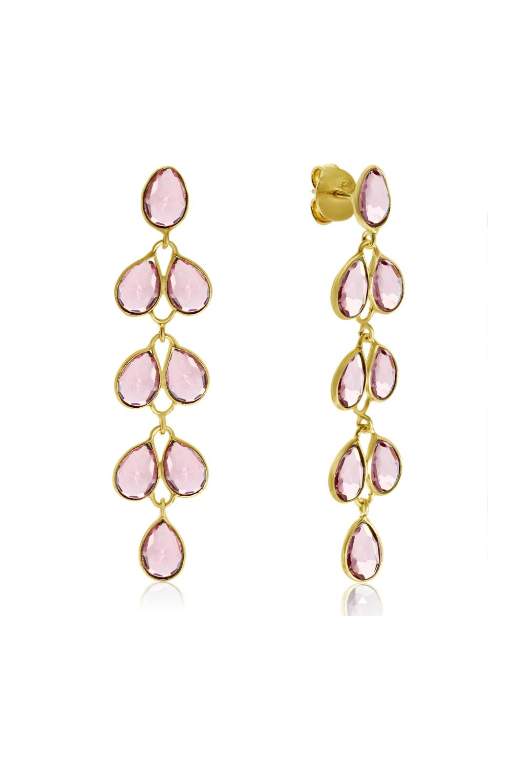 6th Borough Boutique Raspberry Maddie Earrings - Front Full Image