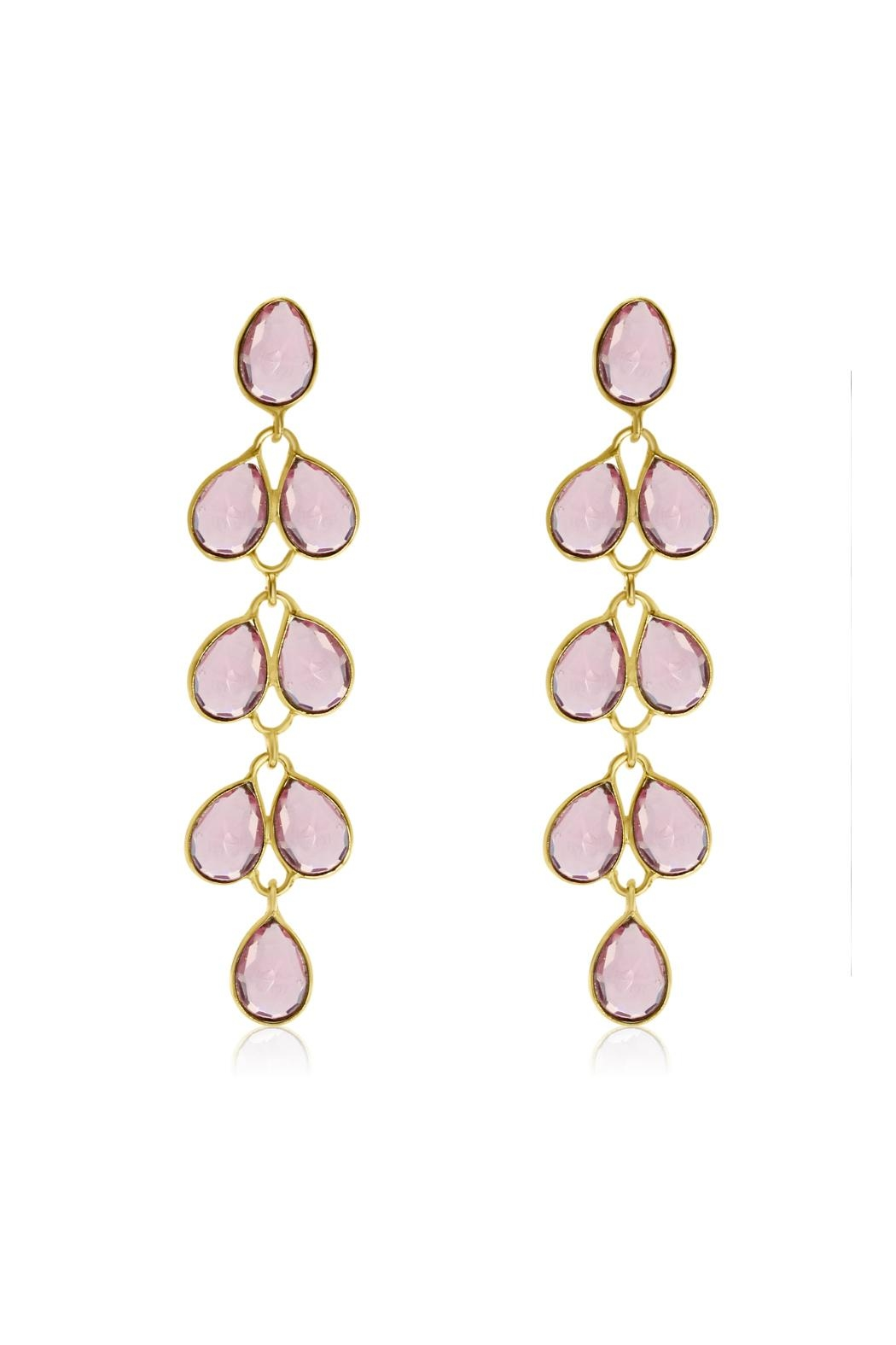 6th Borough Boutique Raspberry Maddie Earrings - Main Image