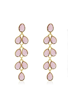 Shoptiques Product: Raspberry Maddie Earrings