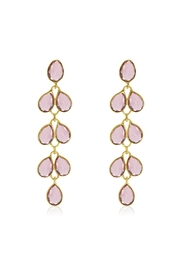 6th Borough Boutique Raspberry Maddie Earrings - Front cropped
