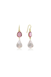 6th Borough Boutique Raspberry Michelle Earrings - Product Mini Image