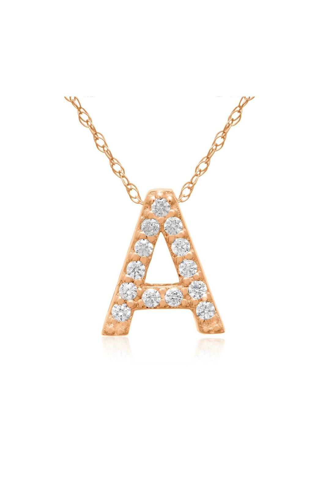 6th Borough Boutique Rose Initial Necklace - Main Image