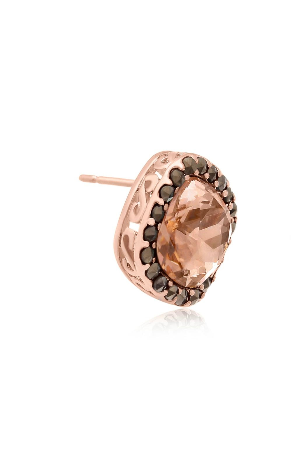 6th Borough Boutique Rose Morganite Earrings - Side Cropped Image