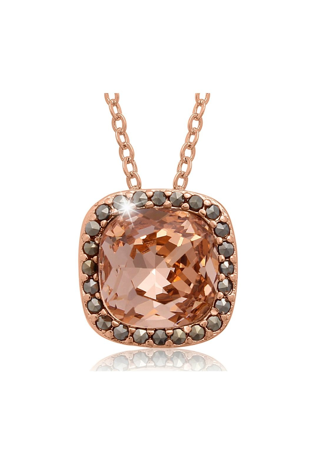 6th Borough Boutique Rose Morganite Necklace - Front Cropped Image