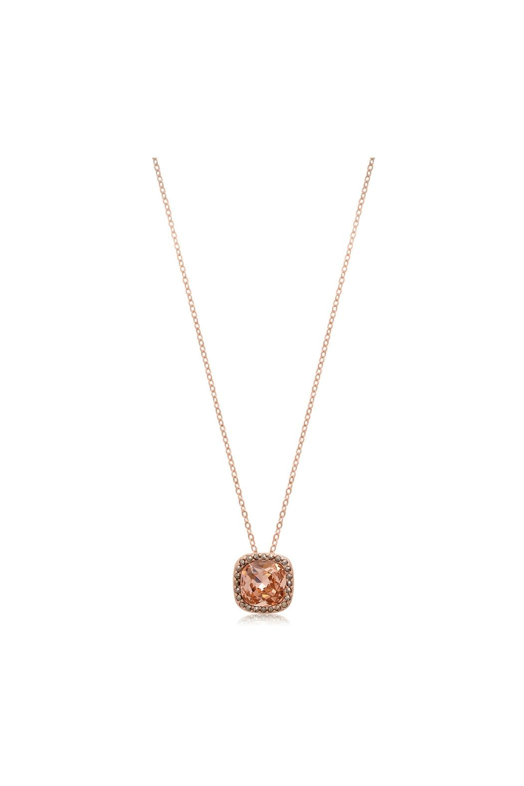 6th Borough Boutique Rose Morganite Necklace - Front Full Image