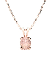 6th Borough Boutique Rose Morganite Necklace - Front cropped