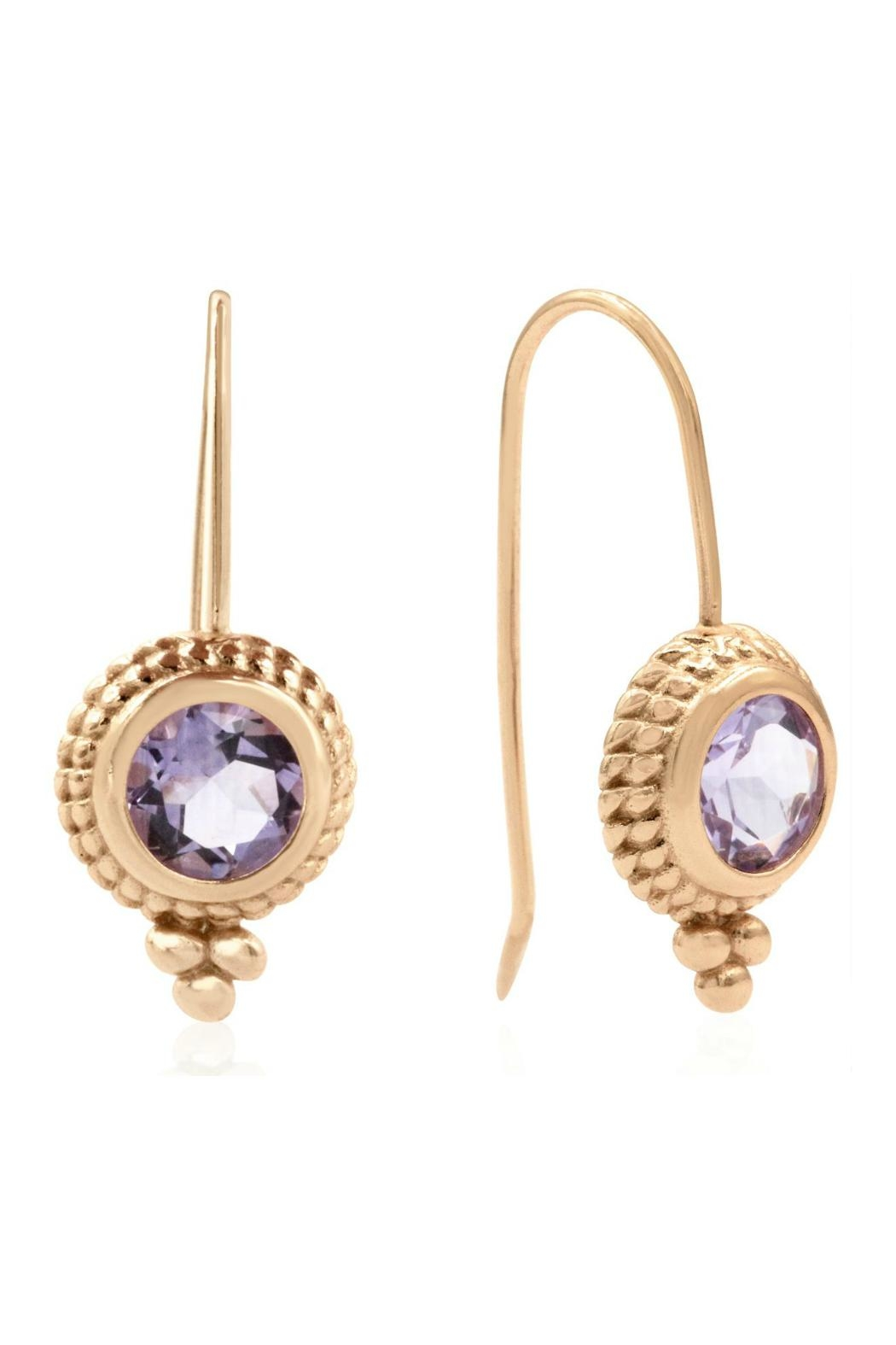 6th Borough Boutique Rose Ropework Earrings - Front Full Image