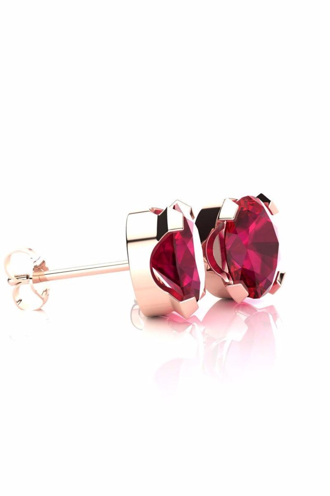 6th Borough Boutique Rose Ruby Studs - Front Full Image