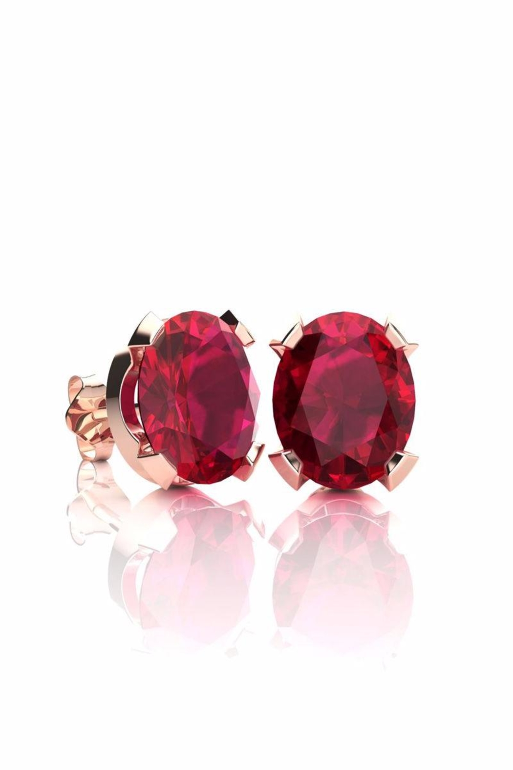 6th Borough Boutique Rose Ruby Studs - Main Image