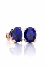 6th Borough Boutique Rose Sapphire Stud Earrings - Front cropped